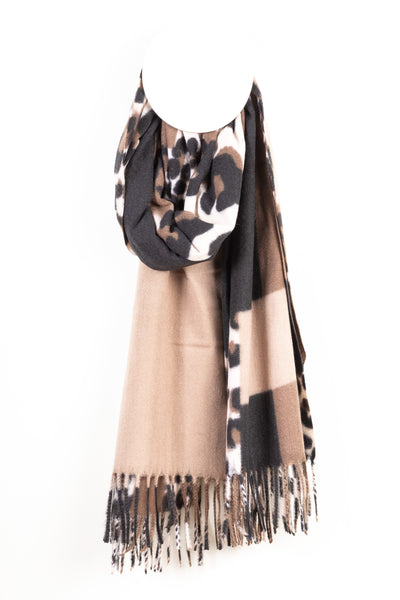 Two-Tone Leopard print Scarf - Tom & Eva