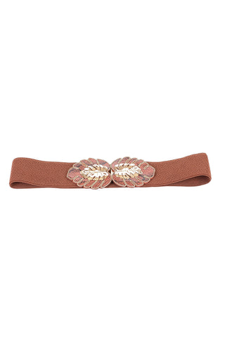 Leaf Buckle Elastic Belt - Tom & Eva