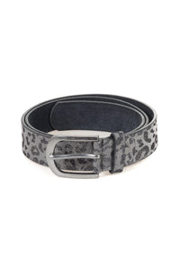 Leopard Print Leather Belt - Tom & Eva