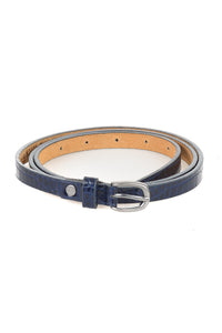 Textured Patent Leather Belt - Tom & Eva