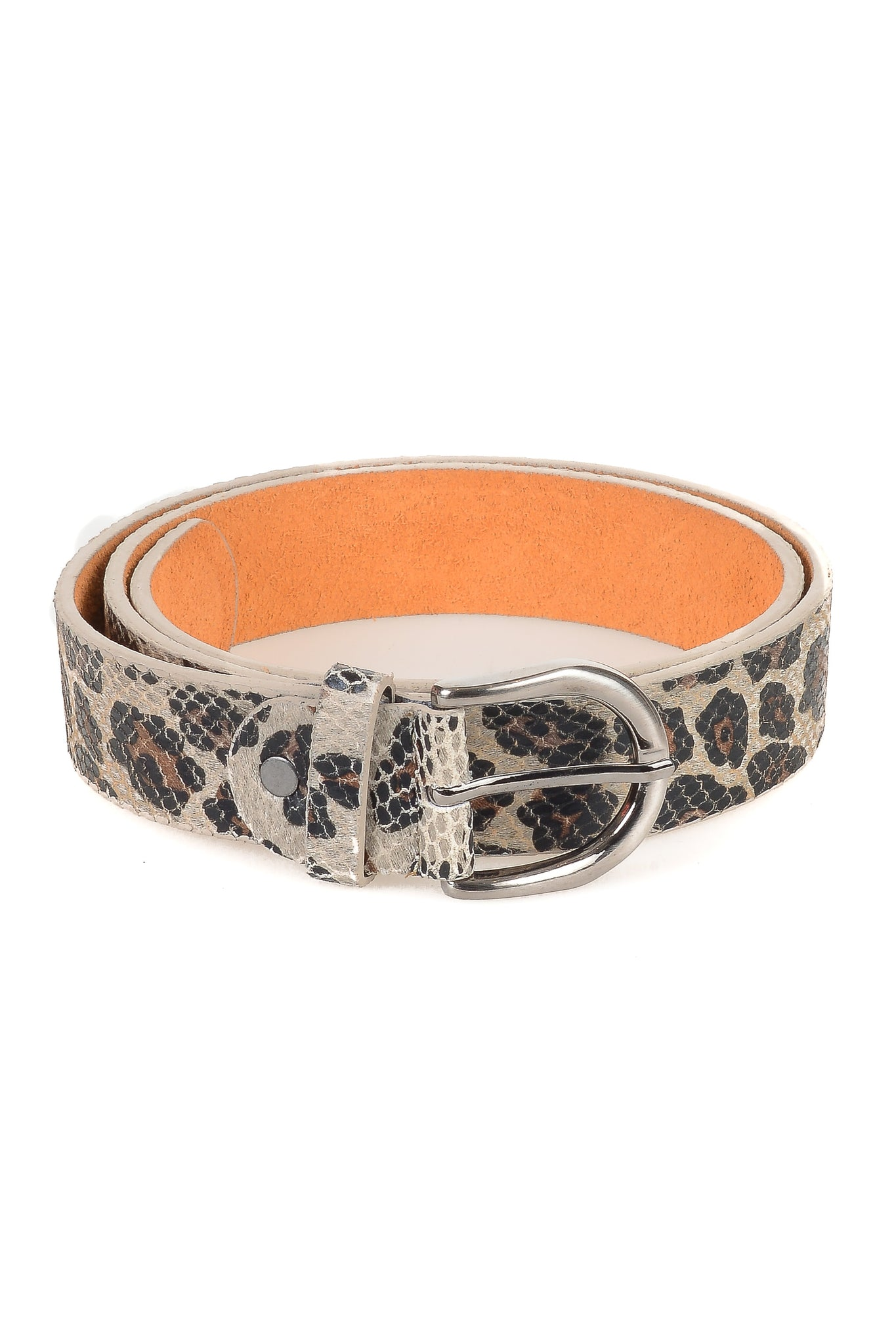 Textured Leopard Print Belt - Tom & Eva