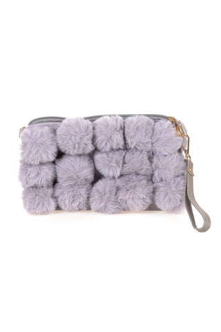 Pompom Fluffly Wrist bag - Tom & Eva