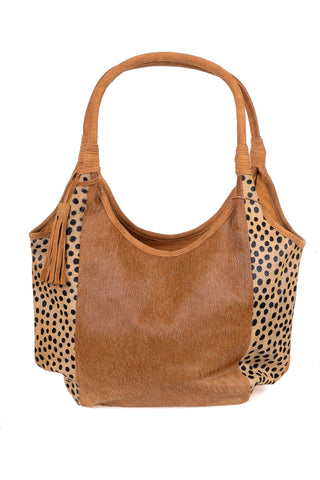 Leopard Print Leather Tote - Tom & Eva