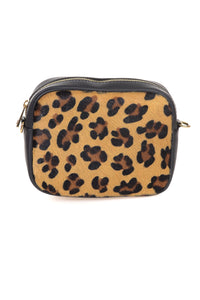 Leopard Print Leather Clutch - Tom & Eva