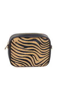 Zebra Print Leather Clutch - Tom & Eva