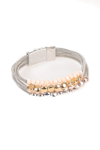 Silver Beaded Bracelet - Tom & Eva