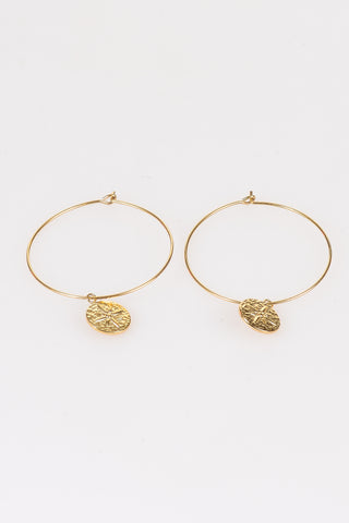 Medallion Hoops - Tom & Eva