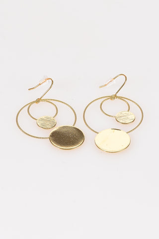 Double Hoop Medallion Earrings - Tom & Eva