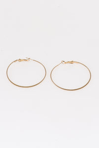 Textured Gold Hoops - Tom & Eva