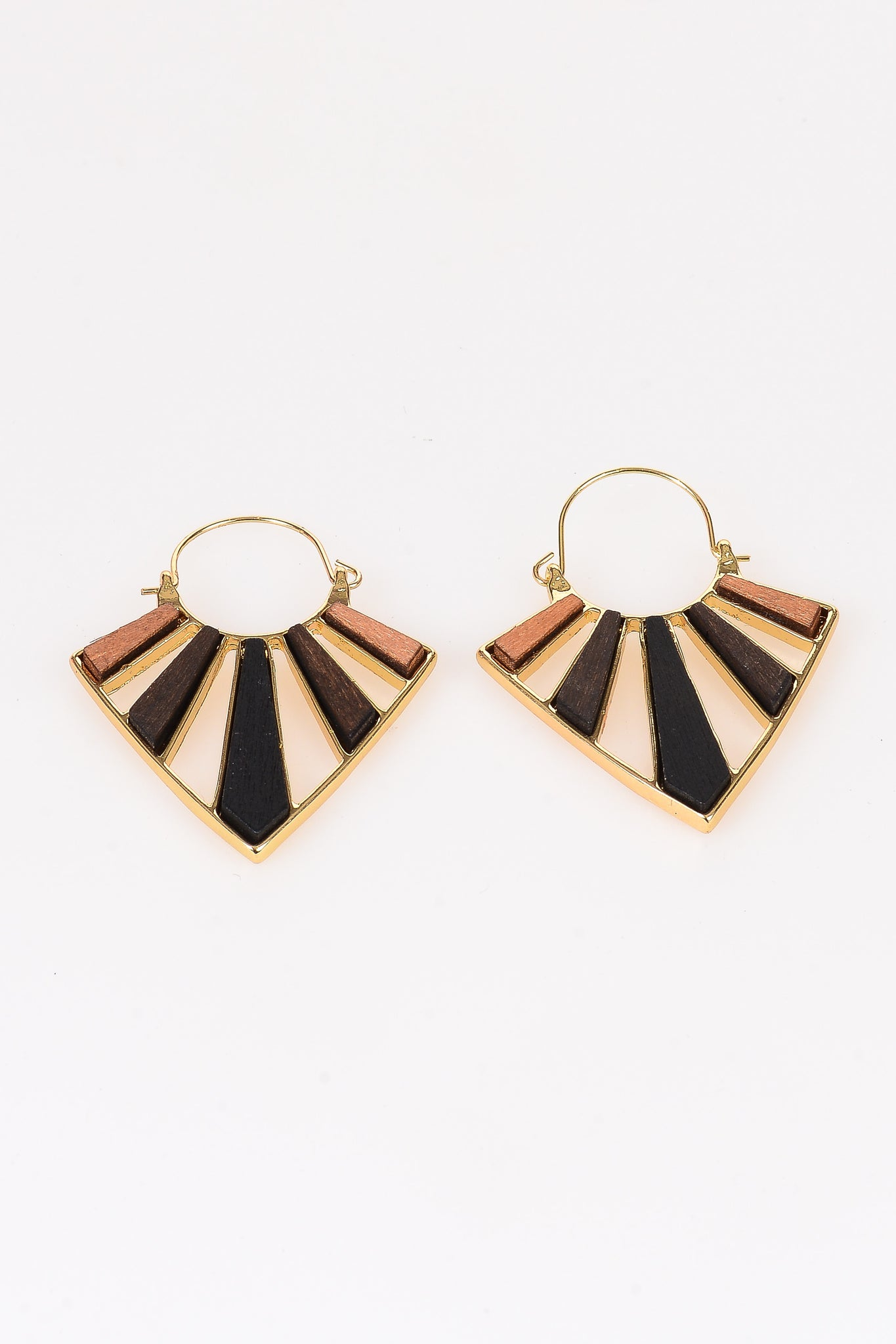 Two Tone Geo Earrings - Tom & Eva