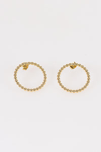 Beaded Hoop Earrings - Tom & Eva