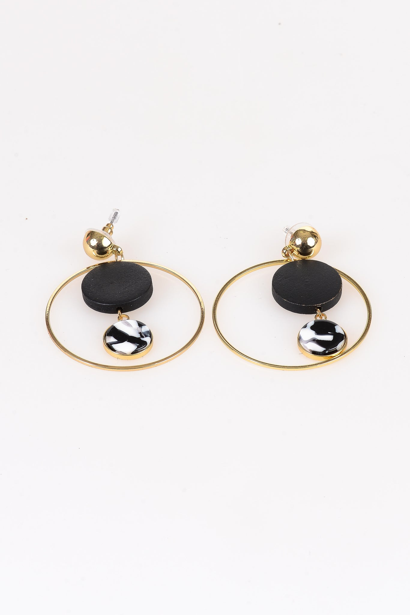 Two-Tone Pendant Earrings - Tom & Eva