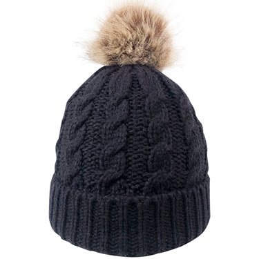 Beantown Cable Knit Beanie