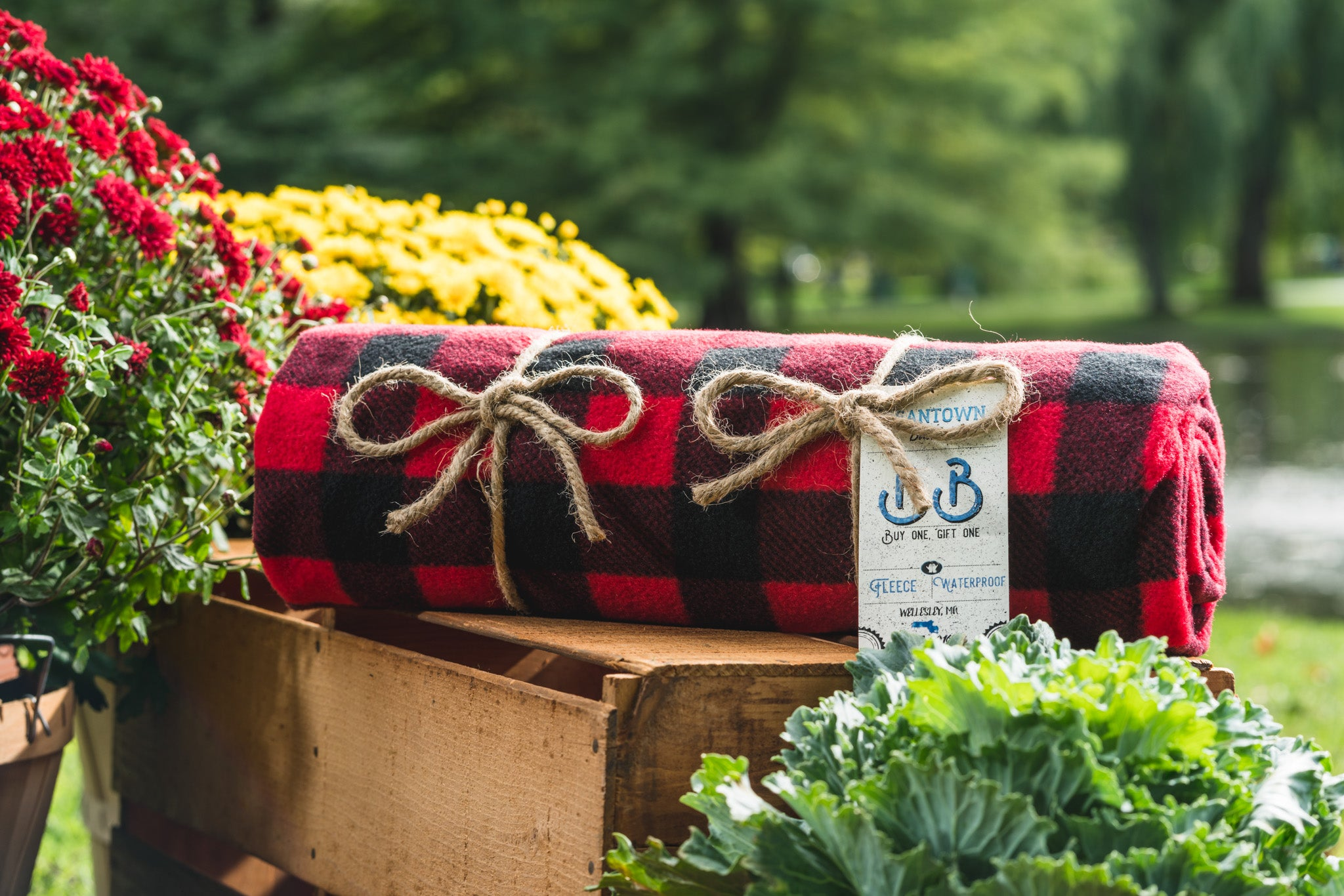 The Red Buffalo Check Beantown Blanket