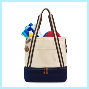 Canvas Tote With Cooler