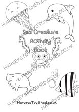 Sea Creature Activity Book Downloadable