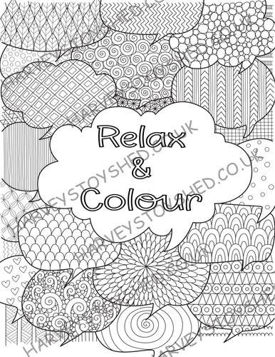 Relax and Colour Adult/Older Child Book