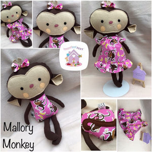 Monkey Dress Up Softie - HarveysToyShed