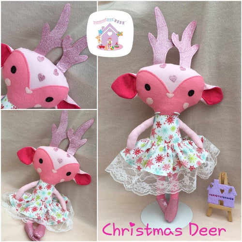 Handmade Christmas Deer Toy - HarveysToyShed