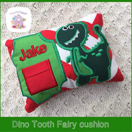 Dinosaur Personalised Tooth Fairy Cushion - HarveysToyShed