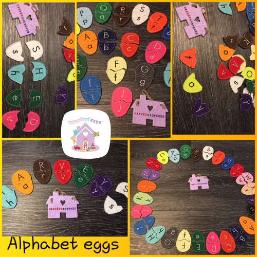 Alphabet Eggs - HarveysToyShed