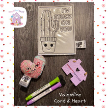 Valentines Colour Card And Pocket Heart Set