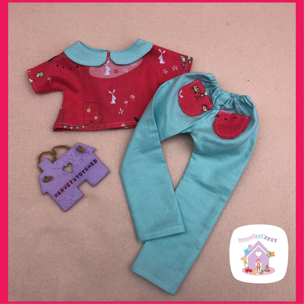 Trousers and Blouse Set for Little Miss H - HarveysToyShed