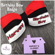 Personalised Boys Birthday Bow Badge - HarveysCloset