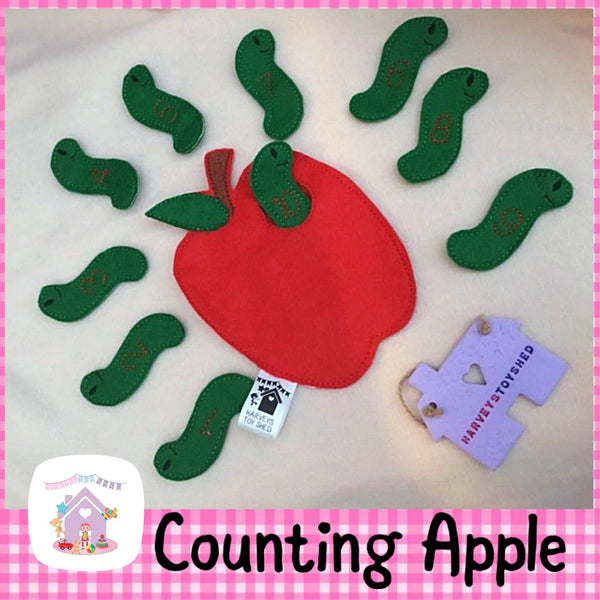 Counting Apple and Worms - HarveysToyShed