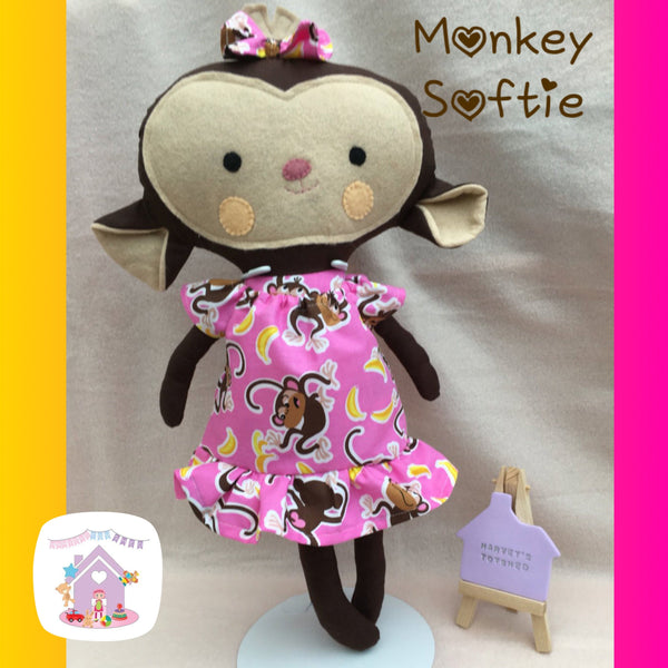 Monkey Dress Up Softie