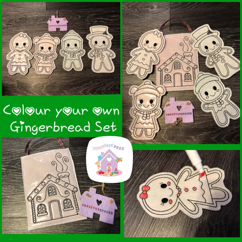 Gingerbread Colouring Set