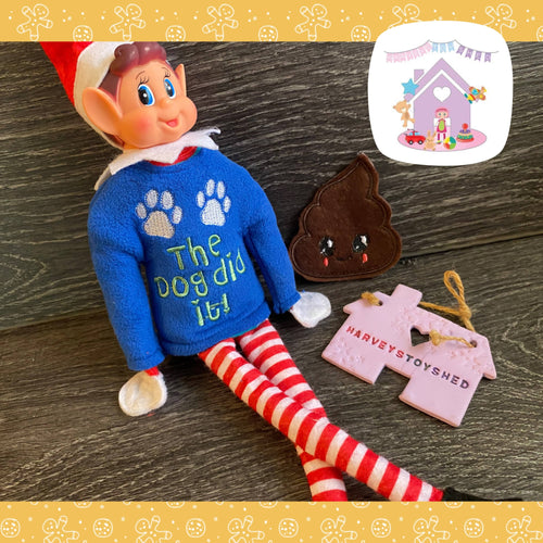 Blame The Pets Elf Jumper set