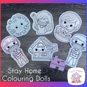 Stay Home Colouring Doll Set