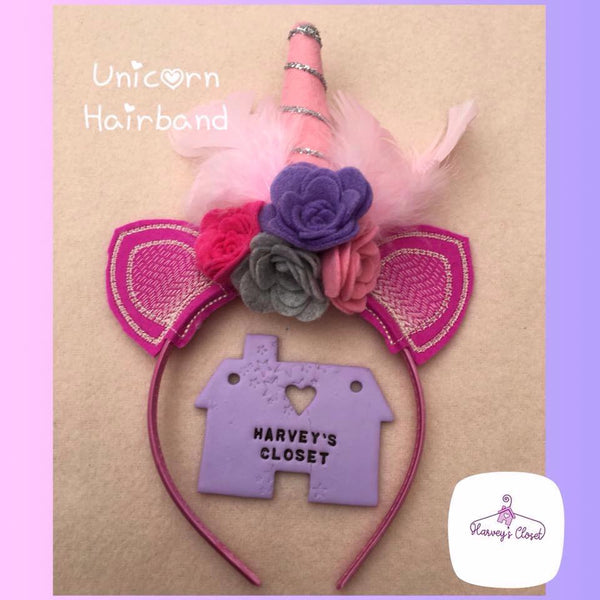 Unicorn Headbands With Ears - HarveysToyShed