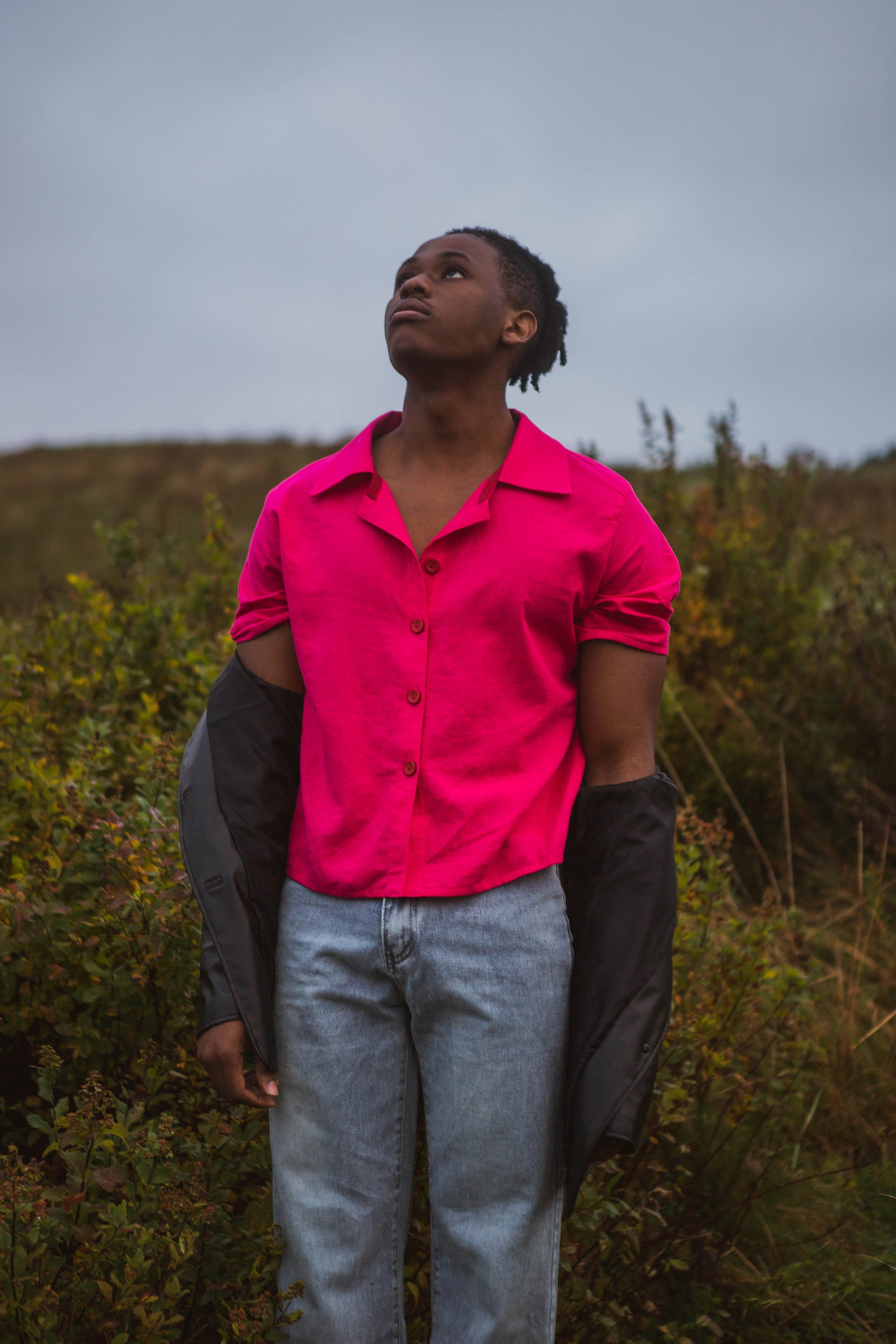architect shirt in harvest fuchsia