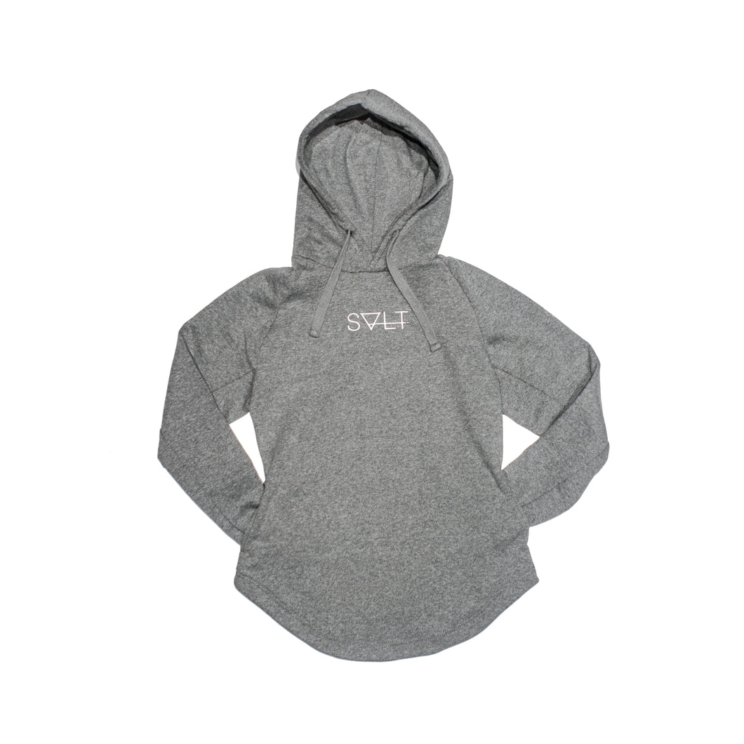 endurance hoodie in heather grey