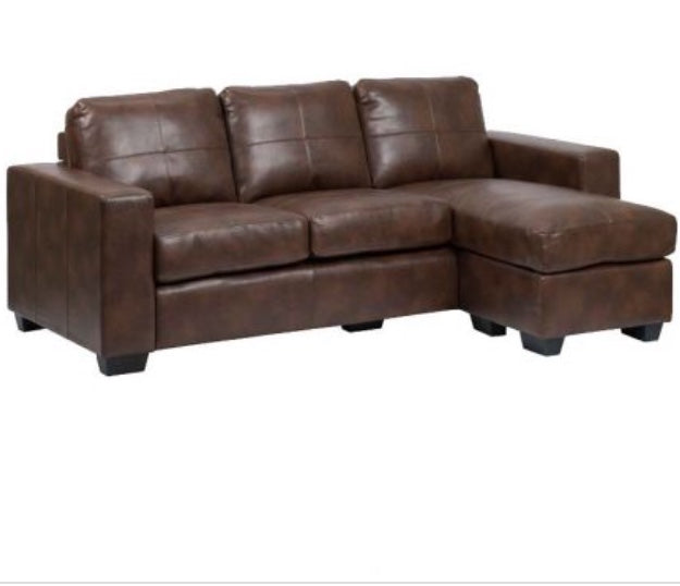 Leather Air L Shape Couch Left Or Right Chaise My Bedroom