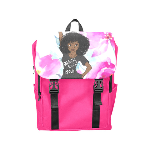 LITTLE GIRL'S BACK TO SCHOOL STYLISH BACKPACK BLACK POWER FIST