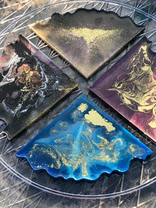 Set of 4 Geode Coasters