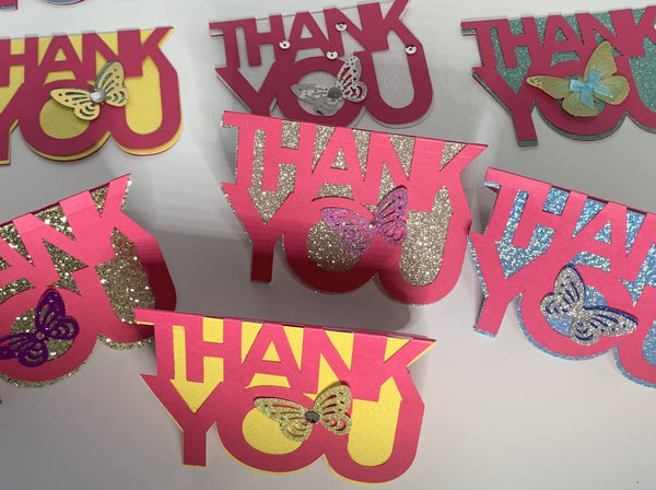 A Set of 10 Miniature Thank You Cards