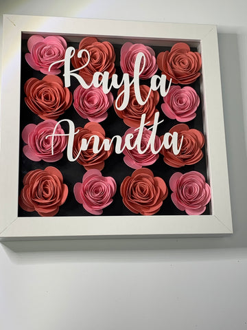 Pink Roses Wall Decor Display Floral Decorations