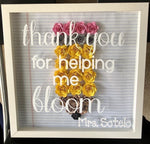Teachers Change The World  Floral Display Wall Decorations