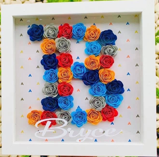 Letter Initial Wall Decor Display Floral Decorations
