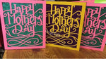 Glitter Base Classic Mother's Day Card