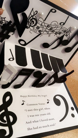Music Note Pop Up Card