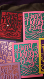 Pack of (5)  GLITTER BASE Mother's Day Cards