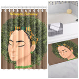 Naturally Wrapped Shower Curtain + Rug Bundle