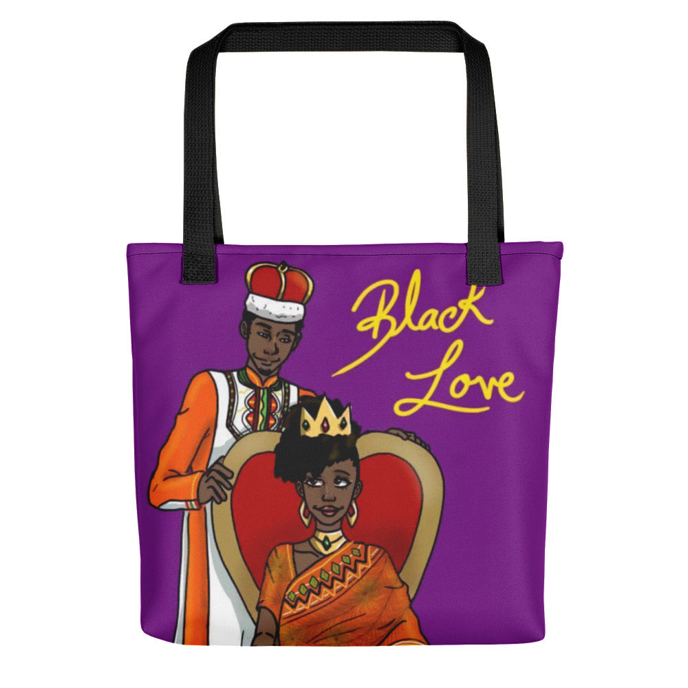Black Love Black Couple King and Queen Afrocentric Tote Bag
