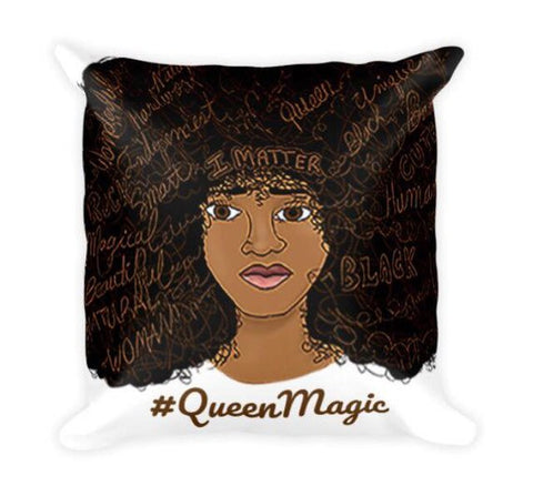 Afro Power Words Pillow
