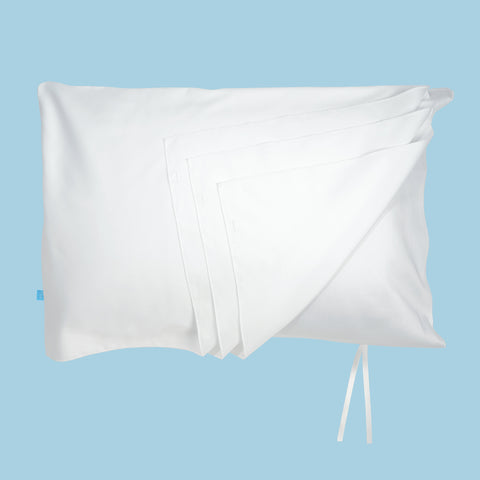 deja acne pillowcase for clear skin - flat lay image of pillowcase with pages folded
